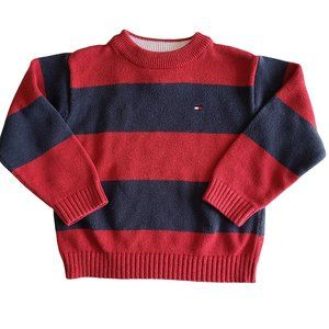 🍒3/$20🍒TOMMY HILFIGER Red & Blue Striped Sweater
